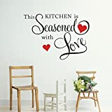 Best Decal Quote For Kitchen Rooms - Picniva This Kitchen is Seasoned with Love Wall Review