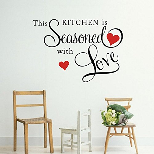 Picniva This Kitchen is Seasoned with Love Wall Quote Sticker