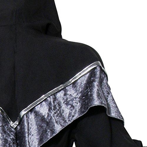 COSFLY Men s Dark Mystic Sorcerer Robe Halloween Cosplay Costume Hooded Cape 9af6d3ca2
