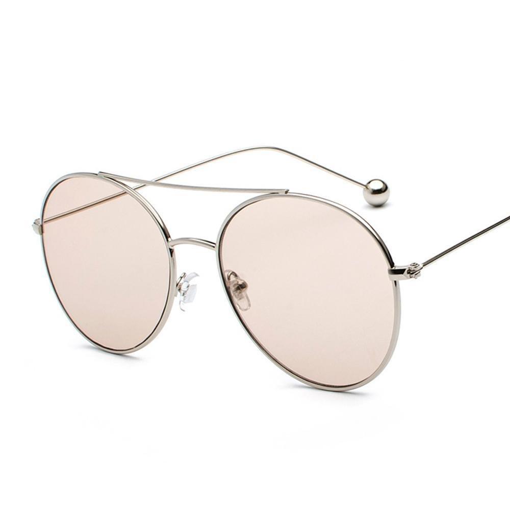 Aoligei Persönlichkeit Stahl Ball Sonnenbrille weibliche Seestück Street clap Gläser ursprünglichen Host Wind retro transparent Sonnenbrille sSqJ9