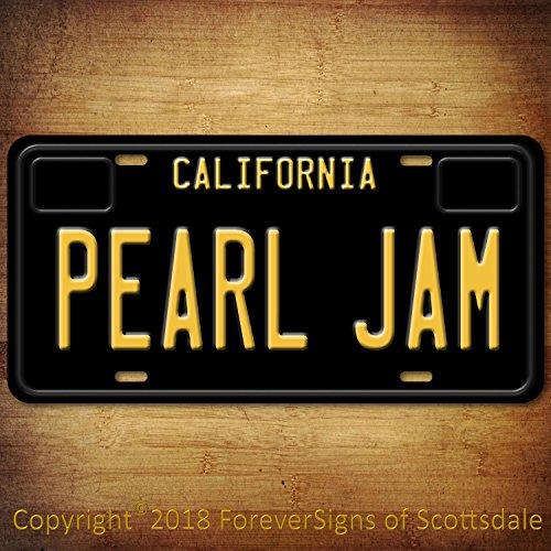 Jam China (Pearl Jam Rock Band California Aluminum Vanity License Plate Black)