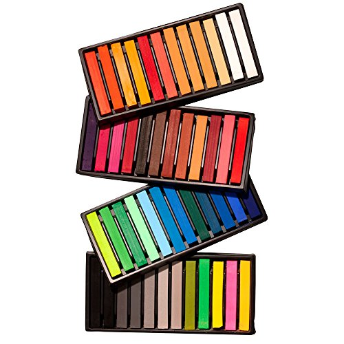 SoHo Urban Artist Soft Pastel Sketch Squares for Professional Pastel Studies, Designing, Plein Air Sketching, Pastel Artwork - [Set of 48 - Assorted Colors]