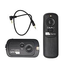 PIXEL RW-221/E3 Wireless Shutter Remote Control Release for Canon Powershot G10/G11/G12/G1X/SX50/700D/EOS 1100D/1000D/650D/600D/550D/500D/450D/400D/350D/300D/100D/60Dseries/70D, Pentax K-5/K-7/K10/K20/K100/K200, Samsung GX-1L/GX-1S/GX-10/GX-20/NX100/NX11/NX10/NX5, Contax 645/N1/NX/N Digital