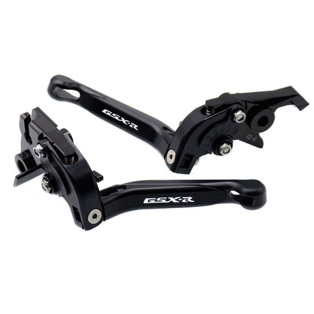 For Suzuki GSXR 1000 2005-2006 Black Folding Extendable Brake Clutch Accessories Engraved Levers