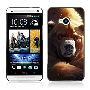 Designer Depo Hard Protection Case for HTC One M7 / Grumpy Bear