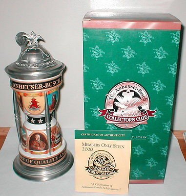 Anheuser-Busch 2000 Budweiser Collectors Club Membership Stein (Anheuser Busch Collector Steins)