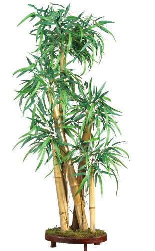 Nearly Natural 5205 Chinese Style Bamboo Silk Tree, Green