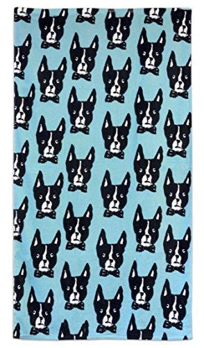 (Bardwil Boston Terrier Towel, Turqouise)