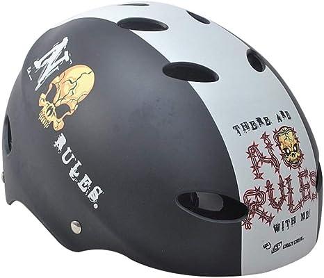Casco para Bicicleta Casco de Bicicleta Casco Ajustable Utilizado para Proteger la Cabeza para la Escalada al Aire Libre del monopatín Hip-Hop (Color : Gray, Size : 48-52cm): Amazon.es: Deportes y aire