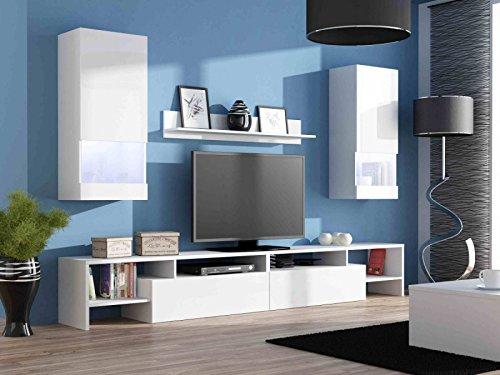 Jadella Wohnwand Komplett Ego Hochglanz Wohnzimmer Tv Wand Farbe