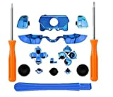 New Thumbsticks Bumpers Dpad Trigger Buttons Set + LB RB LT RT for Xbox One Elite Controller with Tools Chrome Blue