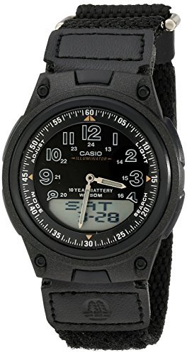 Ana Digi Display - Casio Men's AW80V-1BV World Time Ana-Digi Data Bank 10-Year-Battery Watch