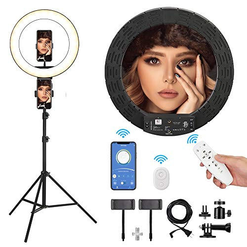 E EyeGrab 12''Ring Light with tripod Stand & phone holder Makeup Ring Light,Circle Light, Selfie Light Good for makeup light/Live Streaming/YouTube/Video conferencing/TikTok stuff shooting Pearl White