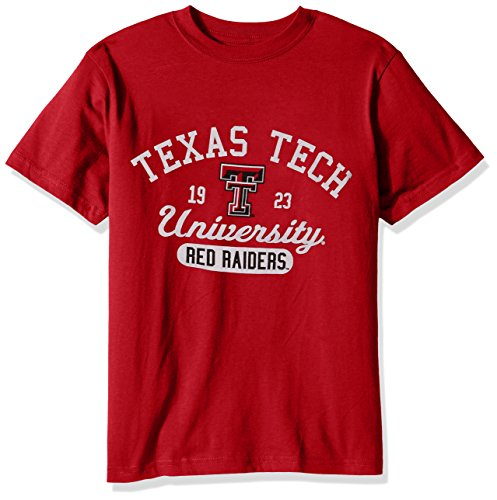 College Kids NCAA Texas Tech Red Raiders Youth Short Sleeve Tee, Size 10-12/Medium, Red