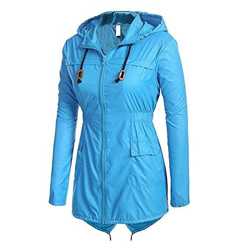 Fishtail Ladies Blue Shower Cagoule Rain Showerproof Coat Raincoat Domorebest Lightweight Women Rain Proof 5RggqIw