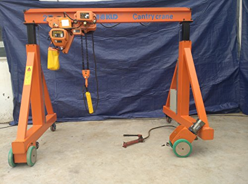Adjstable Legs Manual Gantry Crane (2T-3M(2.6-4M) Electrical Hoist with Adjustable Legs) by LYFOOCRANE