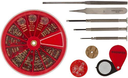 SE JT69WGK Eyeglass and Watch Repair Tool Kit, 9-Piece, Outdoor Stuffs