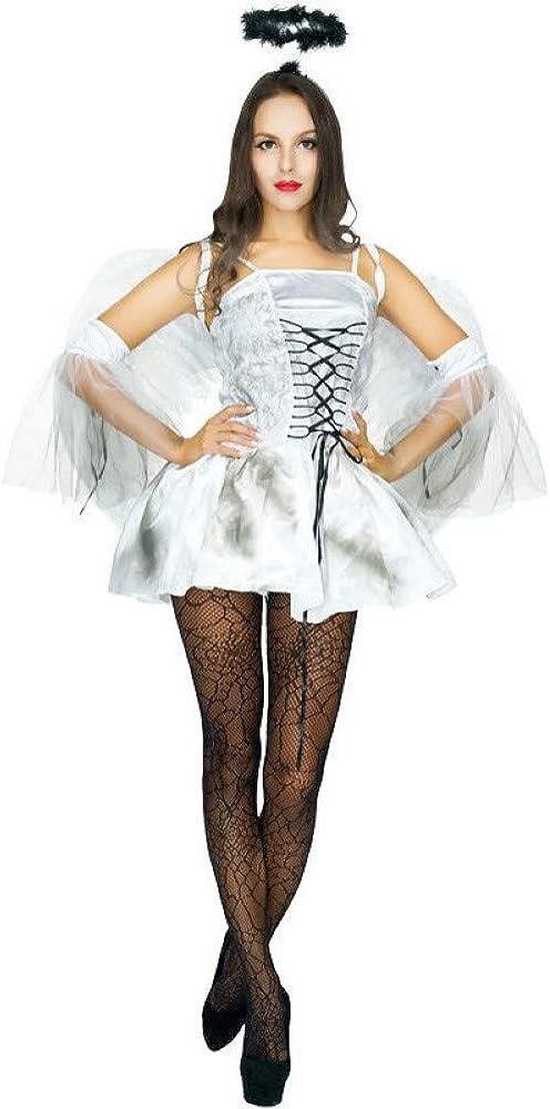 ZAOWEN Disfraz De Halloween Disfraz De Ángel De La Guarda para ...