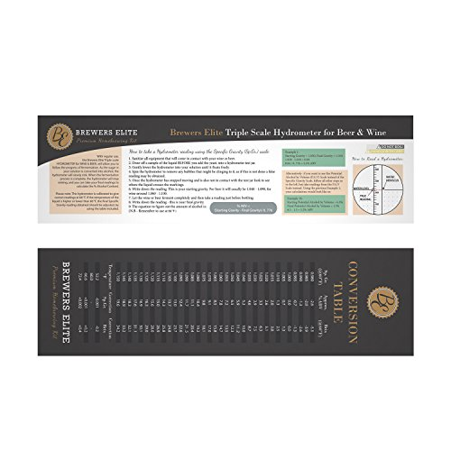 how to read a hydrometer for wine