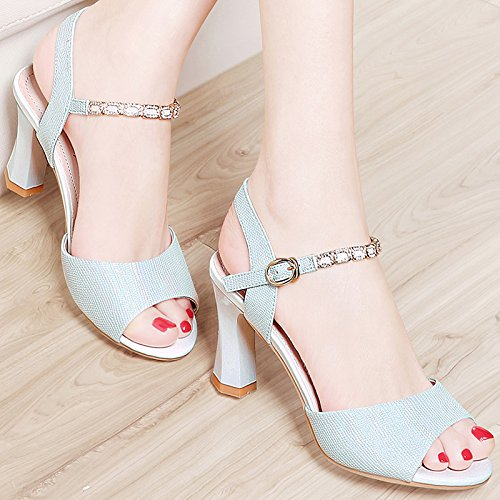 And Coarse Summer All Fashion Fashion KPHY High silvery Waterproof Match Heels Mouth Shoes Fish Spring With Sandals n0qn1z