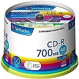 三菱ケミカルメディア Verbatim 1回記録用 CD-R SR80FC50V1 (48倍速/50枚)