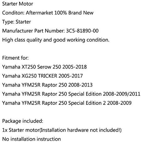 ForYamaha De Moteur Verser D/émarreur XT250 Serow 250 XG250 Tricker YFM25R Raptor Special Edition 2 3C5-81890-00
