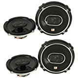 """4) JBL GTO638 6.5"""" - 6.75"""" 360W 3 Way Car Audio Coaxial Speakers Stereo - Two Pairs"""