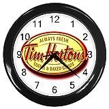 "New List TIM HORTONS Wall Clock 10"" (Black) Free Ship"