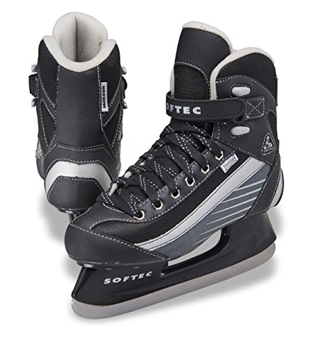 Jackson Ultima Softec Sport ST6102 Black Mens Ice Skates, Size 9 (Mens Skates Hockey)