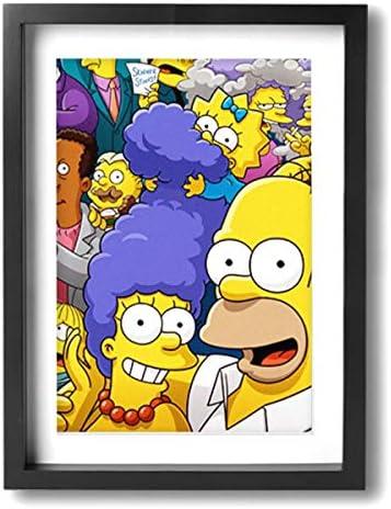 The Simpsons ザ・シンプソンズ ポスター アートパネル アートフレーム モダン ポスター バンクシー フレーム装飾画 キャンバス絵画 アートボード 部屋飾り 壁の絵 壁掛け ソファの背景絵画 木枠セット 額入り(30cm*40cm)