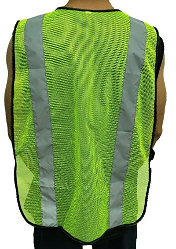 High Visibility Yellow Safety Vest By Reflectes – Breathable Reflective Security Vest For Men & Women With 2 Inch Reflective Strips- Ideal For Jogging, Running, Bike Riders, Traffic & Workers (12Pack) by Reflectes (Image #4)