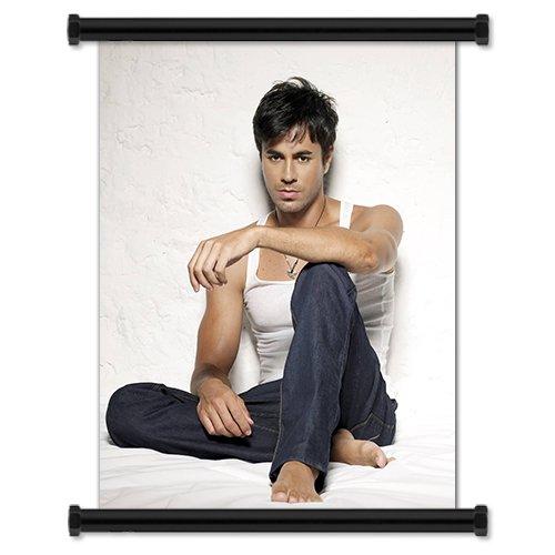 Enrique Iglesias Sexy Spanish Pop Artist Fabric Wall Scroll Poster (16