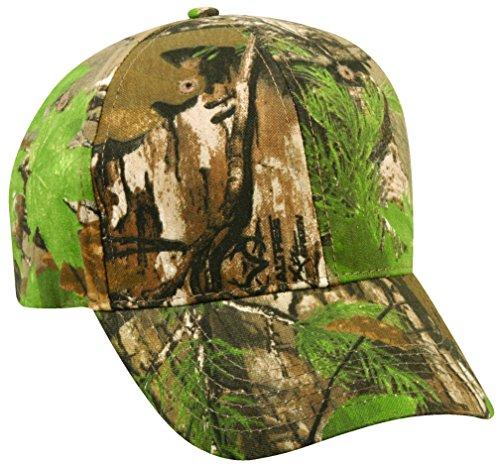 Cotton Hunting Cap - Realtree Adjustable Closure Youth Blank Cap, Realtree Xtra Green Camo