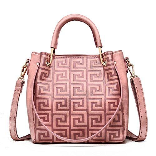 con dimensioni a 22cmx10cmx22cm Portamonete Penao da in pelle pelle borsa Solo donna Messenger rilievo Rosa tracolla in Fashion ZnqxEwprq8