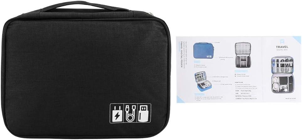 04 FTVOGUE Sac de Rangement pour Disque Dur Portable C/âble USB Alimentation Banque Casque Accessoires de t/él/éphone Portable num/érique Organisateur