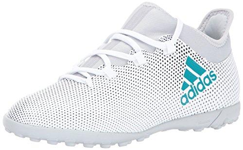 adidas Boys' X Tango 17.3 TF J Soccer Shoe, White/Energy Blu