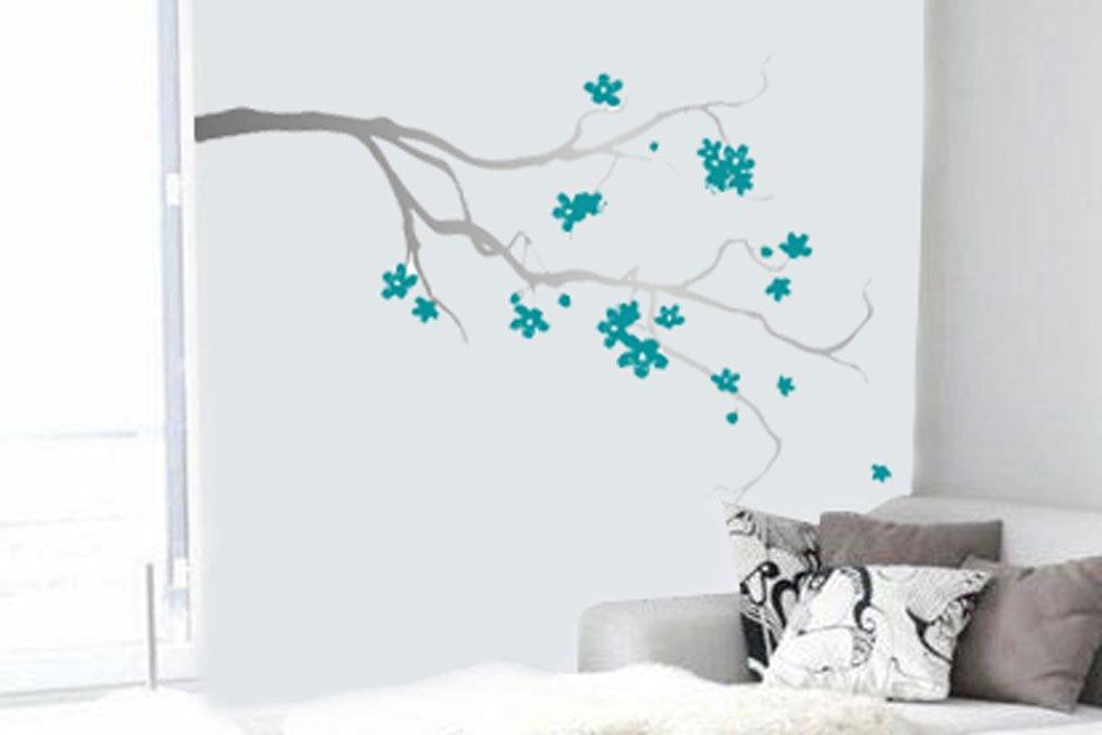 Vinilo Decorativo Pared [08RVL760] flores de cerezo arbol