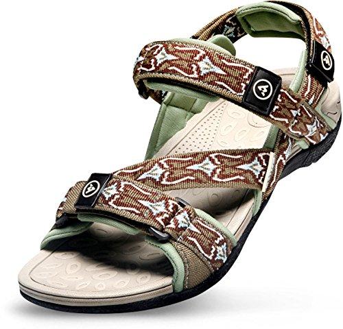 AT-M101-BR_280 (US M 9.5~10) Atika Men's sport sandals tesla Pampas trail outdoor sandal water shoes aqua running slide boots