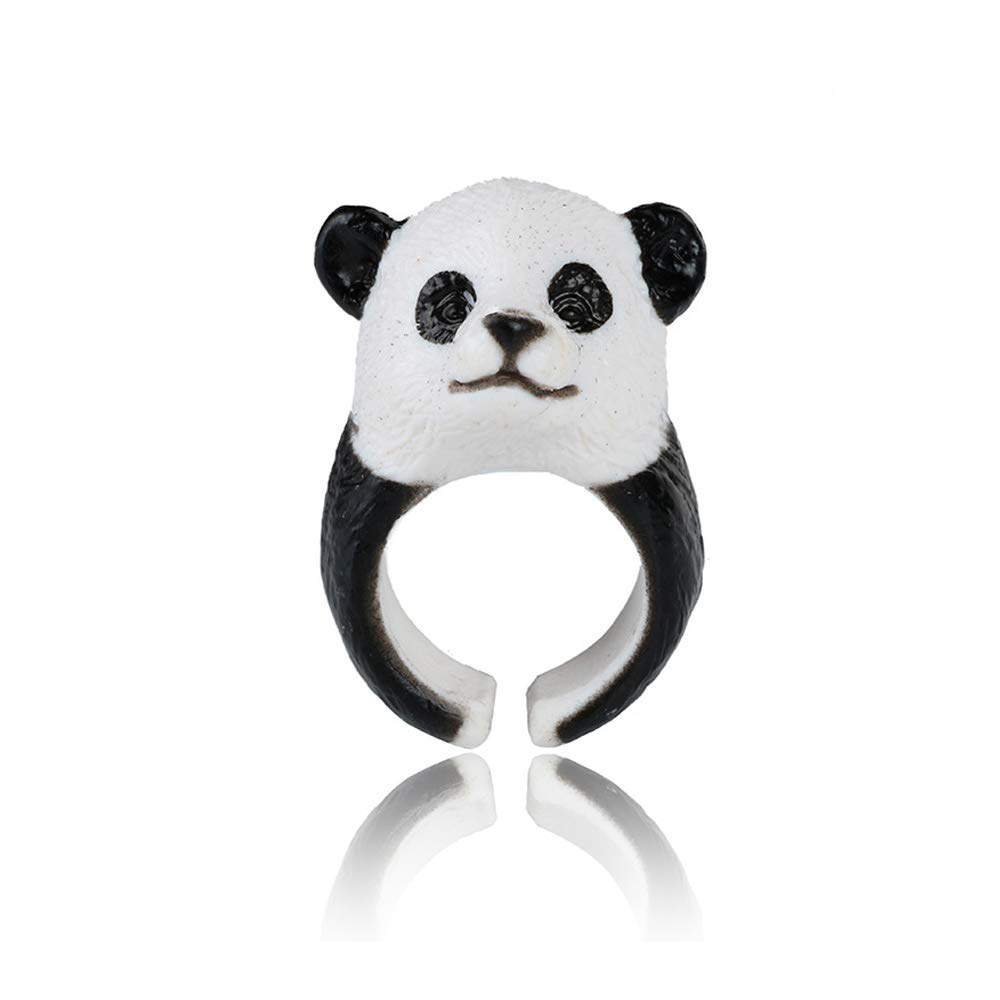 ZHEPIN Cute Animal Ring for Girls Boy Environmentally Friendly Resin Material Ring Adjustable Size