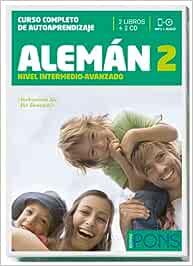 Curso Pons Alemán 2 nivel B1 - 2 libros + 2 CD Pons - En