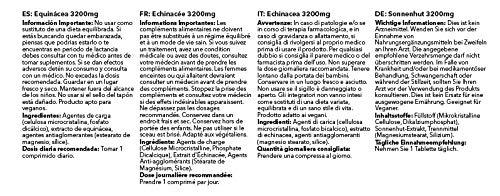 Equinacea 3200mg - ¡Bote para 1 año! - Apta para veganos - 360 cápsulas - SimplySupplements: Amazon.es: Salud y cuidado personal