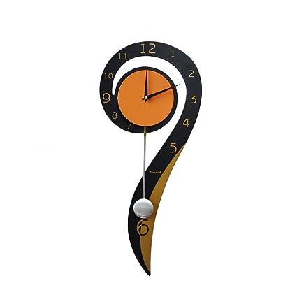 Sunjun relojes de pared personalidad decoración moderna Reloj de cuarzo creativo Reloj de pared dormitorio Mute