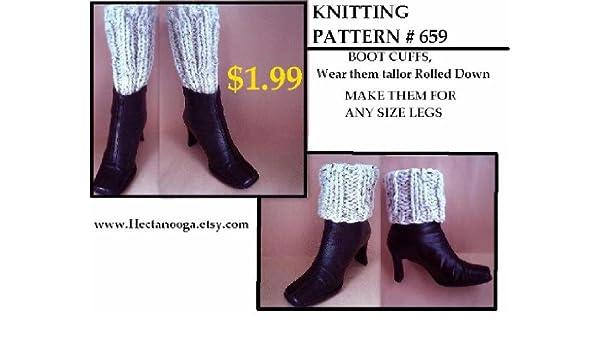 Knitted Boot Cuffs Knitting Pattern Easy Beginner Level Knitting