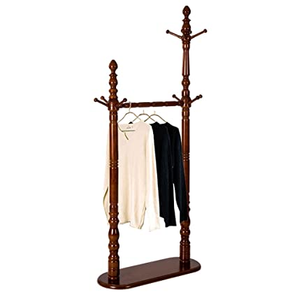 Amazon.com: AIDELAI Coat Rack Solid Wood European Double ...