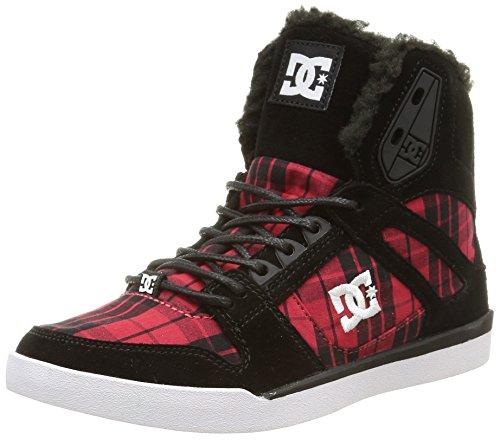 DC ShoesREBOUND SLIM HI J SHOE - Zapatillas mujer multicolor - Mehrfarbig (Black Plaid BPA)