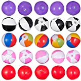 25 Mini Beach Ball Set, Great For Younger Kids Pool Parties Comes Assorted 5 Styles Balls As Illustrated.