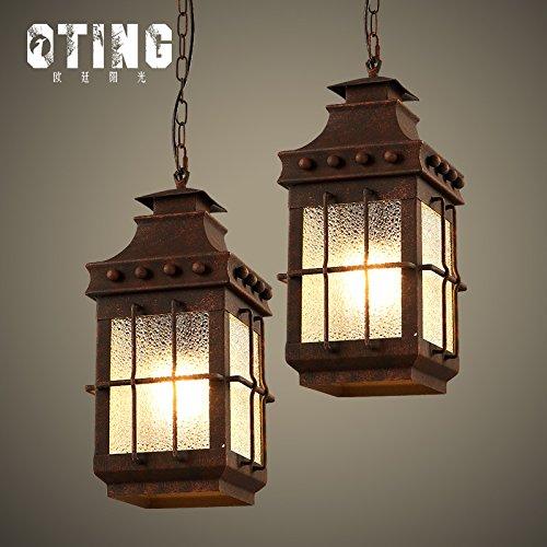(Leihongthebox industrial wind loft engineering retro single head hanging Pendant Ceiling Lighting iron art dining table lamp antique lamps west ,1517cm)
