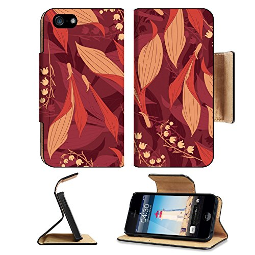 MSD Premium Apple iPhone 5 iPhone 5S Flip Pu Leather Wallet Case iPhone5 IMAGE ID: 5447228 lily of the valley pattern in floral - Tmobile Fashion Valley