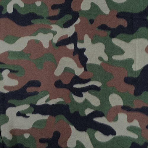 Camouflage Polar Fleece Fabric Anti-Pill 60