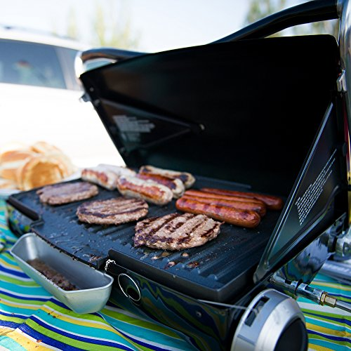 Portable Gas Grill George Foreman GP200B Portable Propane Camp /& Tailgate Grill Black Camping Grill